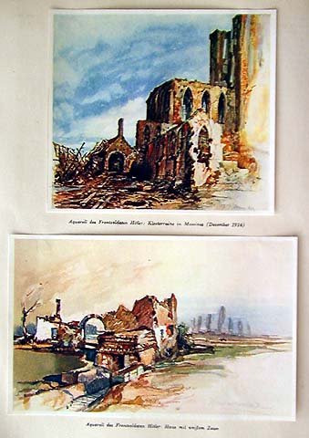 Adolf Hitler's water-colors.