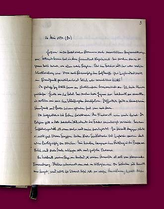 Folder and first pages of Joseph Goebbels' diary 1940.