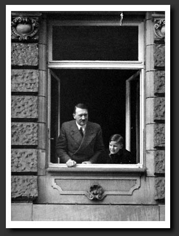 Adolf Hitler's photographs: Hitler with his nephew.