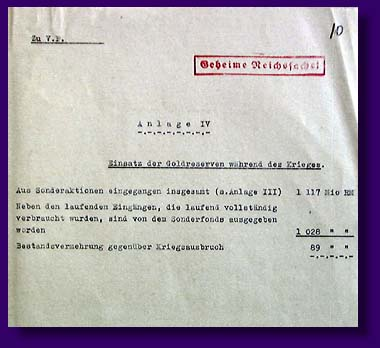 Report of secretary Kerner to Goering on financial situation in Germany, November, 1944.
